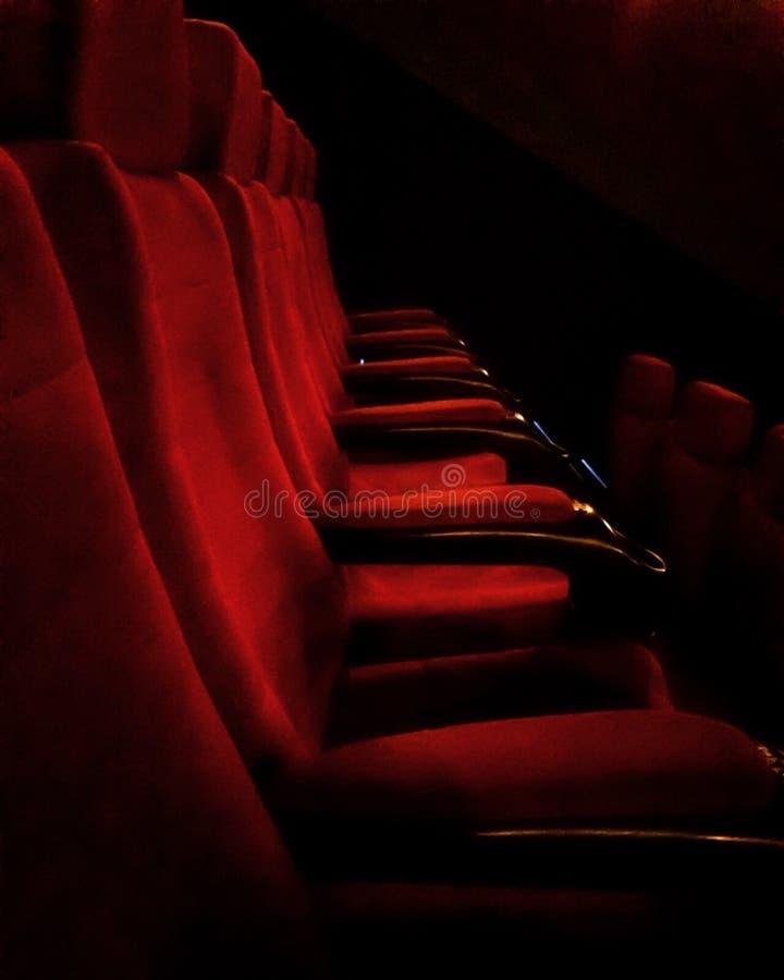 Red velvet seats royalty free stock image