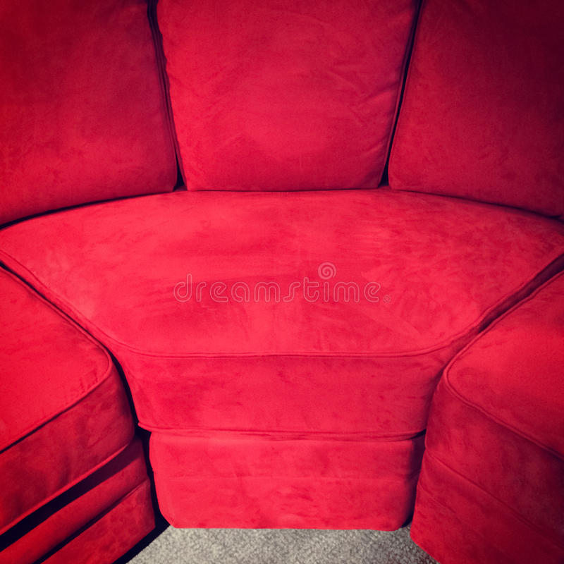 Download Red velvet sofa stock photo. Image of room, color, close - 40754128