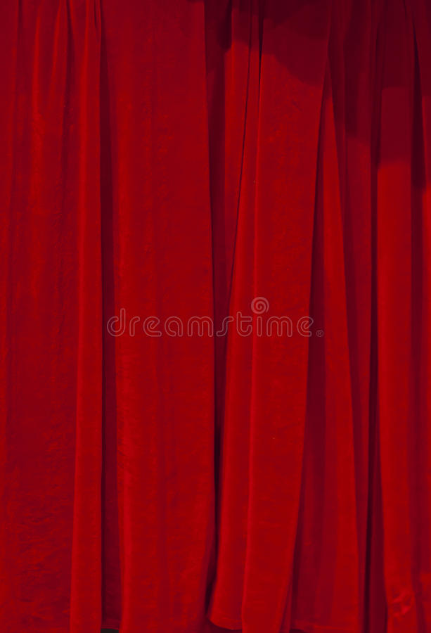 Red Velvet Theater courtain. A Red Velvet Theater courtain stock photos