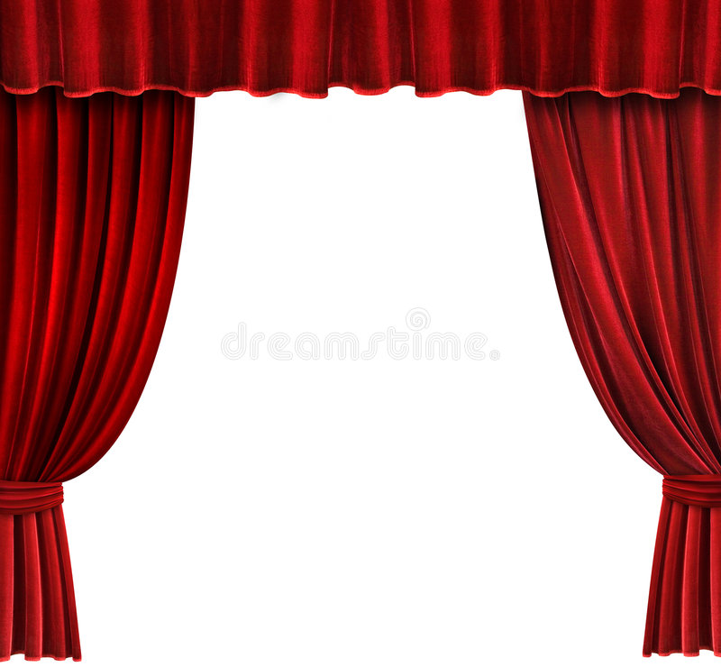 Free Red Velvet Theater Curtains Stock Image - 1225851
