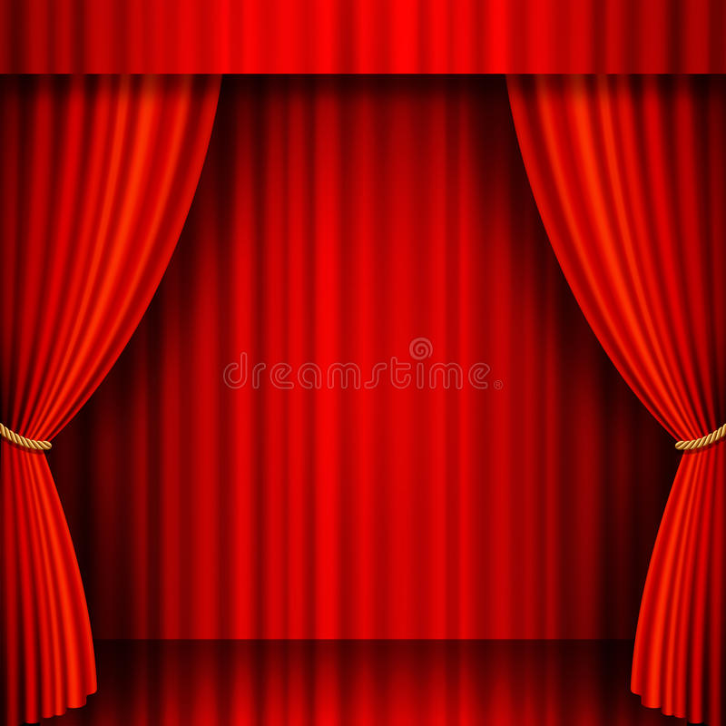 Red Velvet Vector Theater Stock Photos