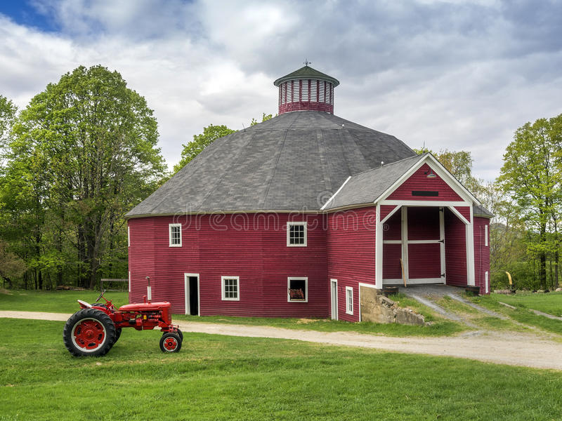 Red Vermont octagonal barn royalty free stock images