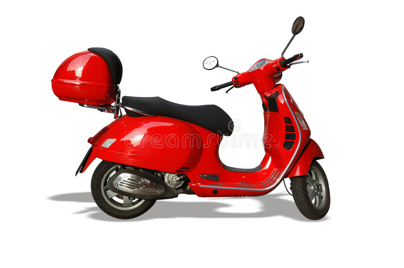 Download Red Vespa Scooter stock photo. Image of vehicle, scooter - 990740