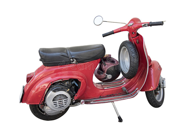 Red Vespa scooter royalty free stock images