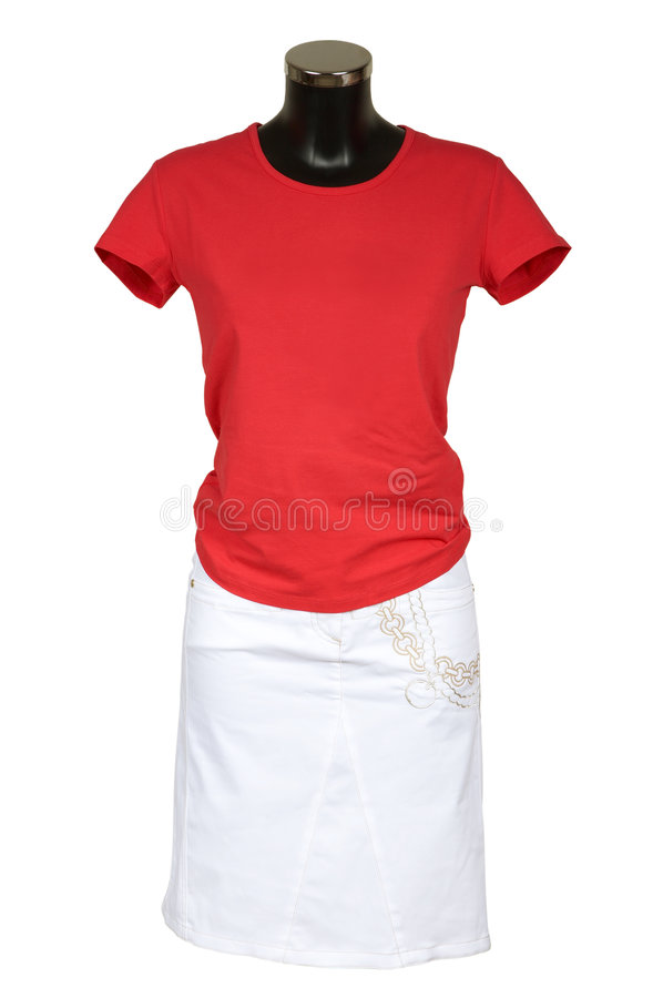 Download Red vest and skirt stock image. Image of cotton, knitted - 2611899