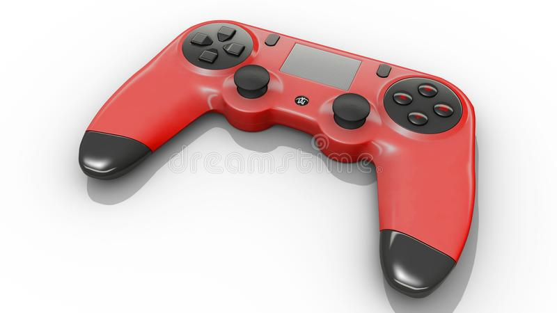 Red video game controller royalty free stock photos