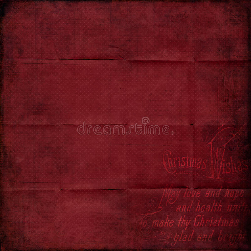 Red vintage Christmas paper royalty free stock photo