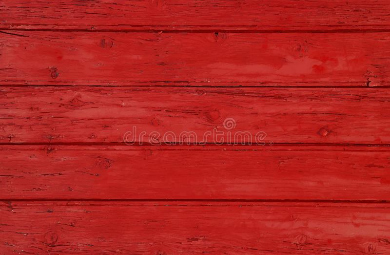 Red vintage painted wooden planks background royalty free stock image