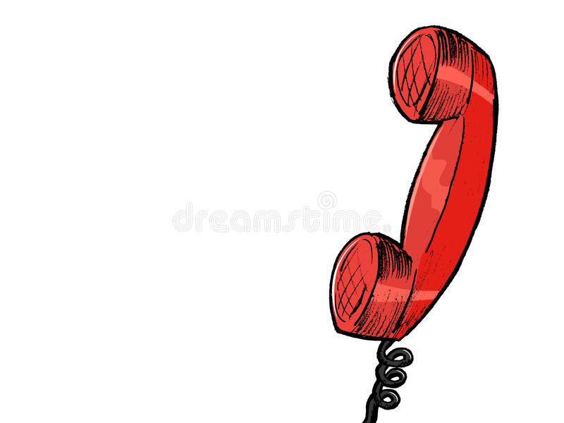 Download Red vintage phone stock vector. Image of cartoon, phone - 28675911