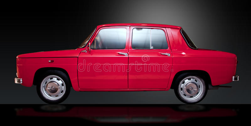 Red vintage Romanian retro car with clipping path royalty free stock photography