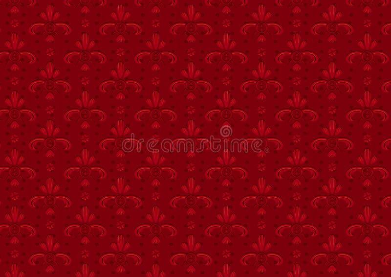 Download Red Vintage Seamless Pattern Stock Vector - Illustration: 3935270