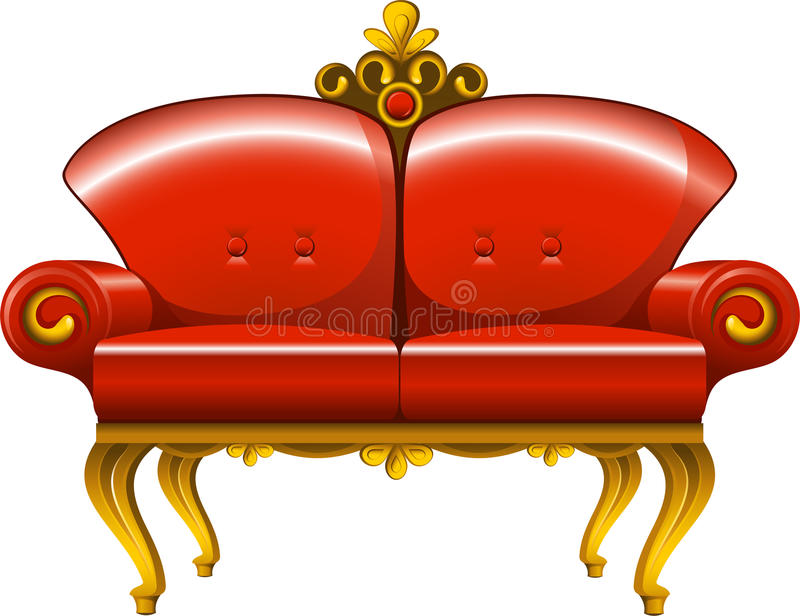 Download Red Vintage Sofa Royalty Free Stock Images - Image: 17037519