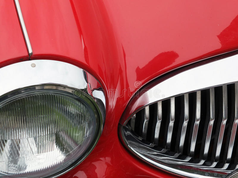Red vintage sports car stock photo