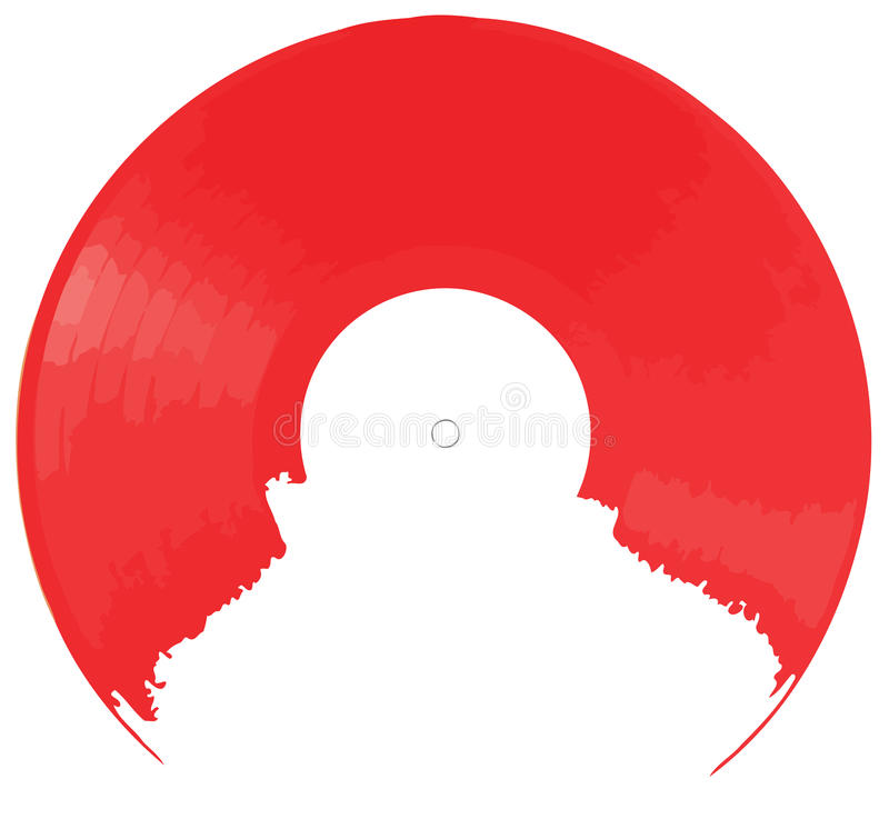 Red Vinyl Background Stock Image