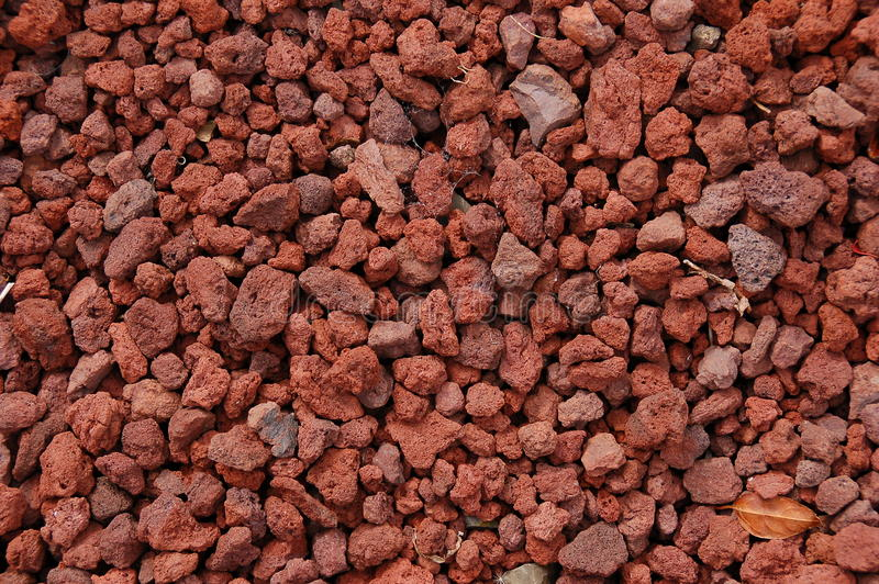 Red Pumice Stone : Red volcanic rock texture stock photo image of material