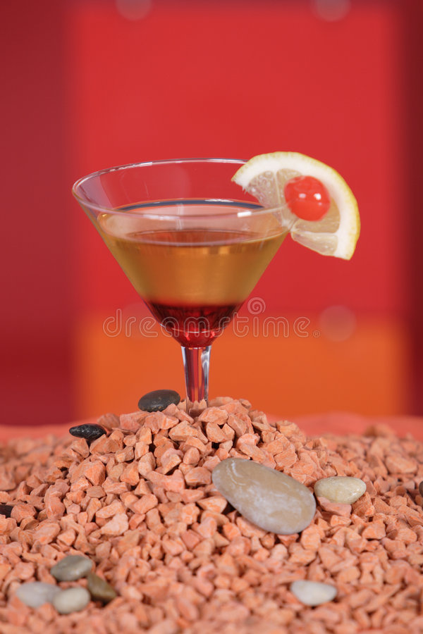 Red volcano cocktail royalty free stock photos