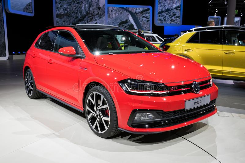 Red 2018 VW Polo GTI car royalty free stock photo
