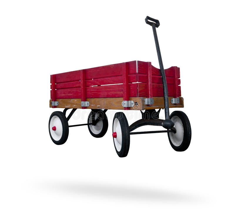 Red wagon royalty free stock photos