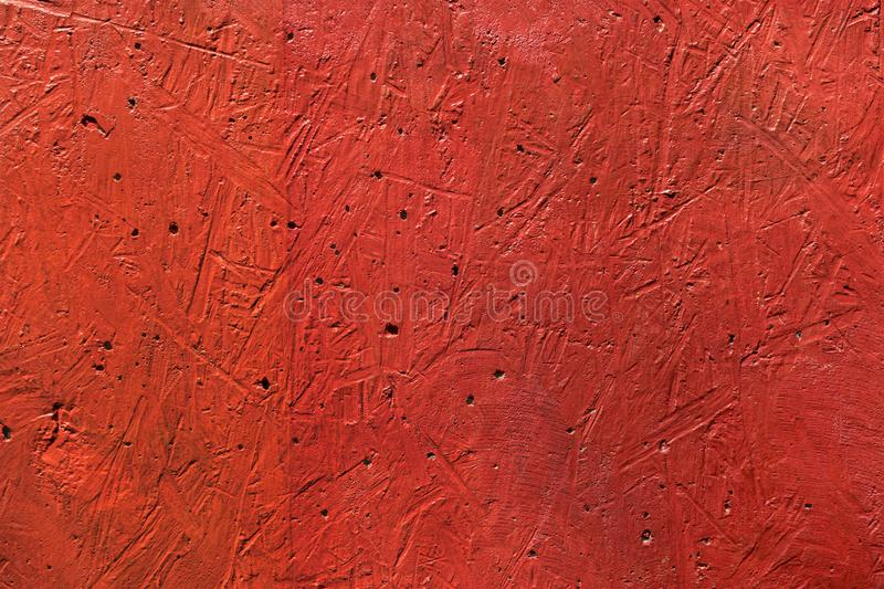 Red wall scratches texture stock photos