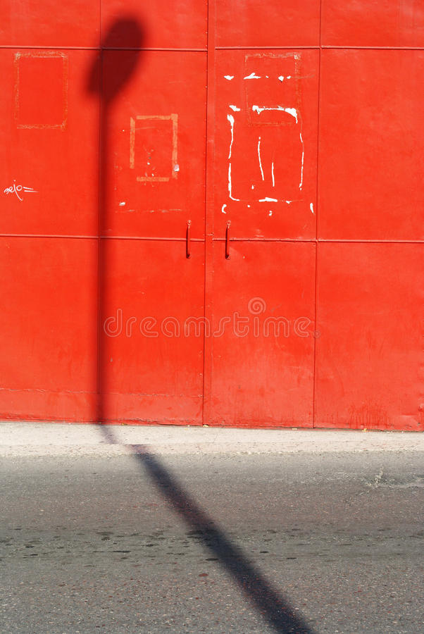 Download Red wall, urban space stock image. Image of background - 25665479