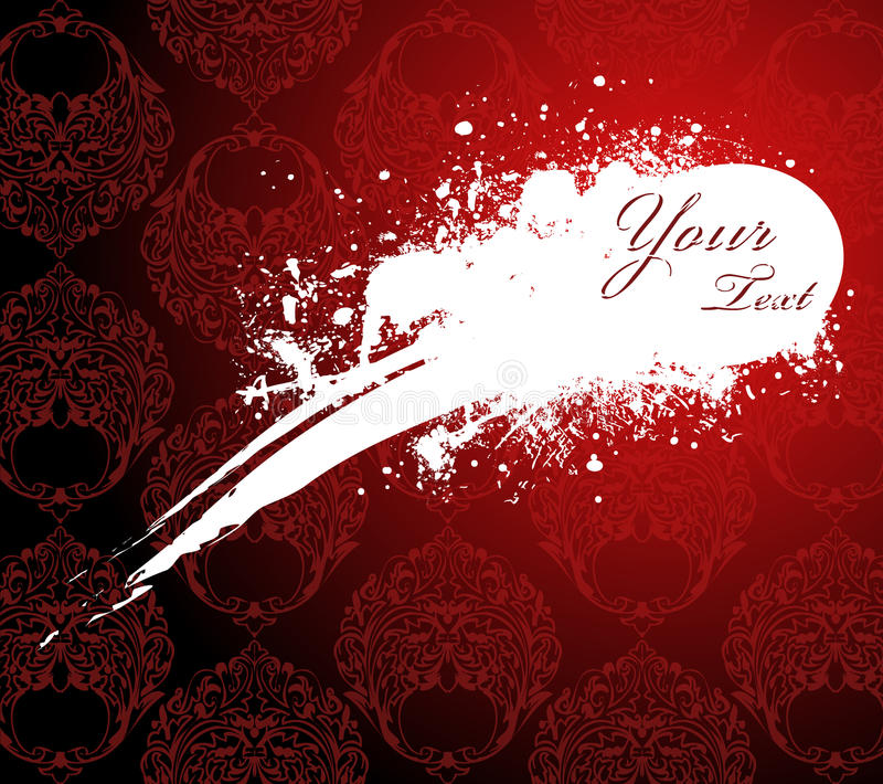 Red Wallpaper With White Stain Stock Images
