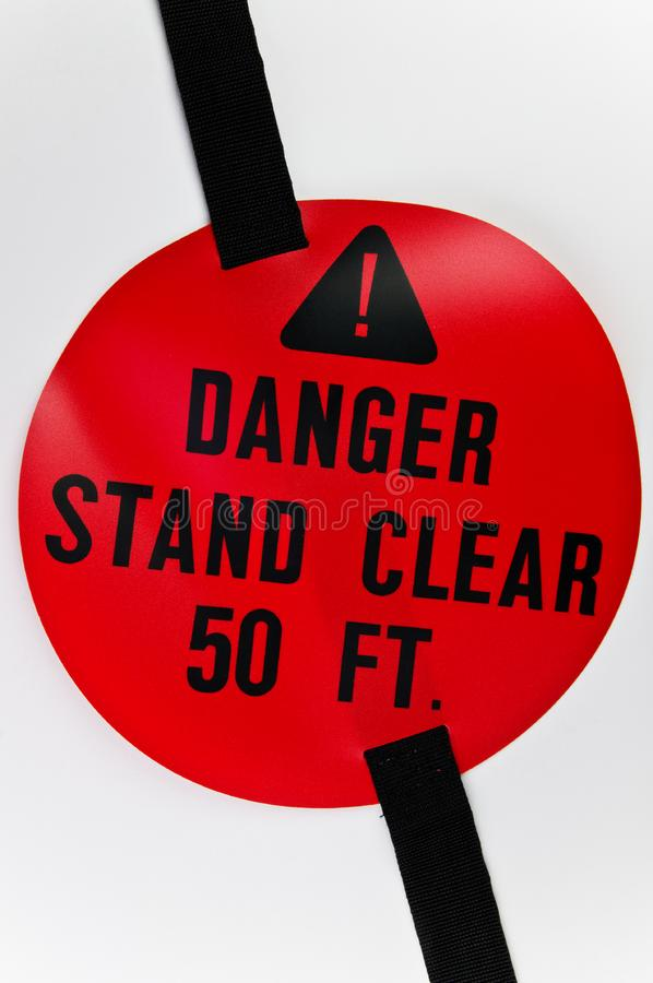 Download Red warning sign stock image. Image of material, warning - 9063727