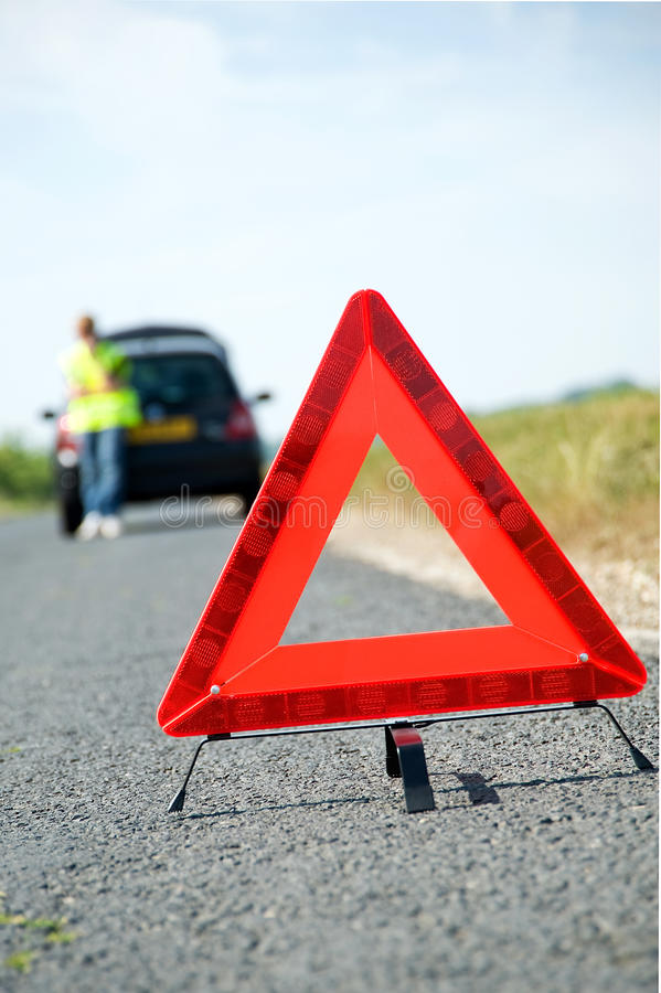 Red Warning Triangle Stock Images
