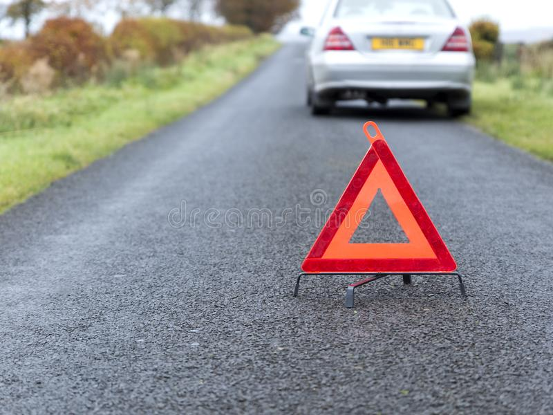 Red Warning Triangle stock image
