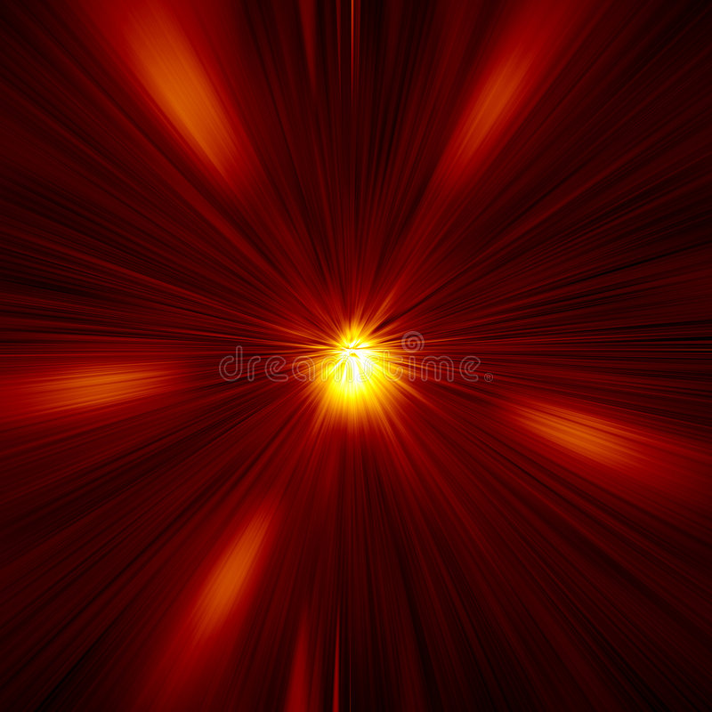 Red Warp Abstract royalty free illustration