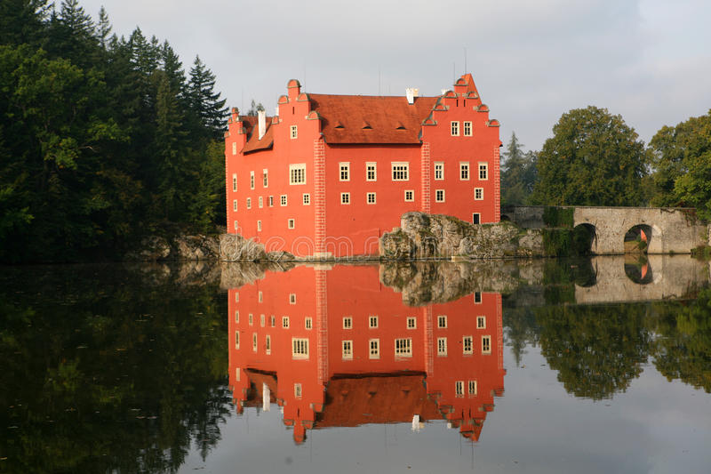 The Red Water Chateau  Cervena Lhota Stock Image