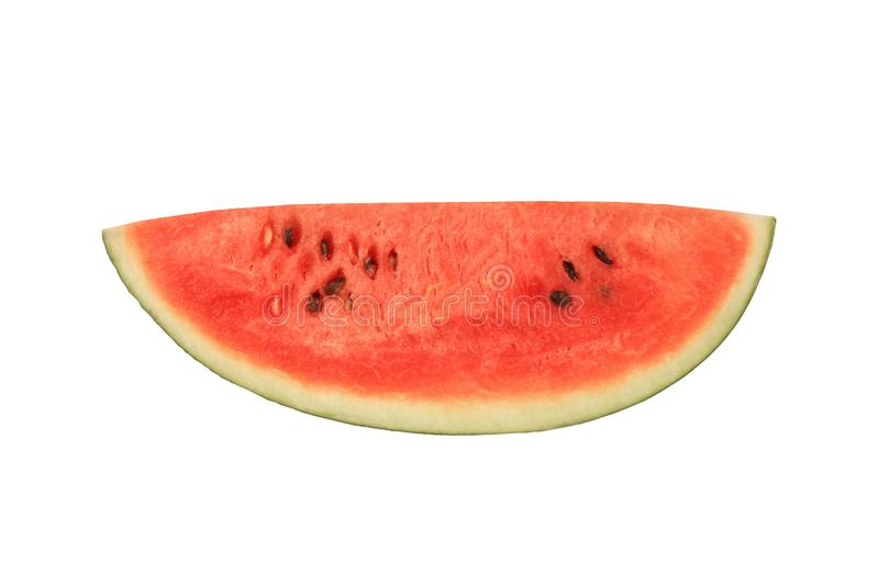Water melon slice isolated on white background stock photography
