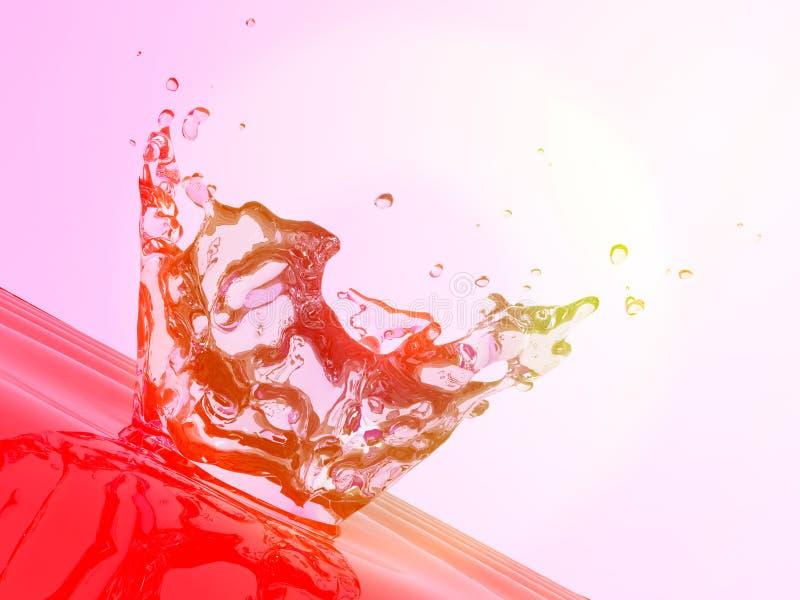 Red water splash stock photo