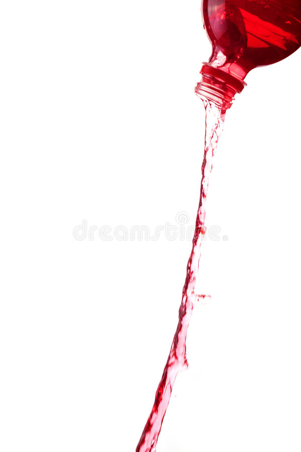 Red water splashes stock photography