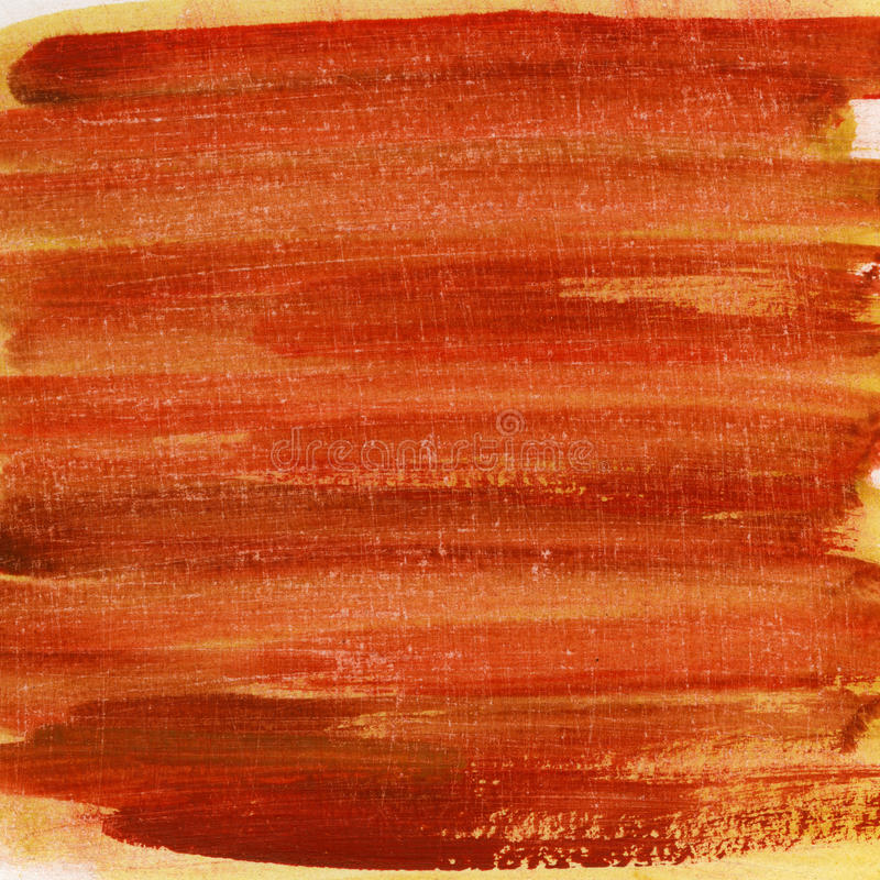 Red watercolor painted and scratched texture stock images