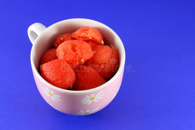 Red watermelon in cup