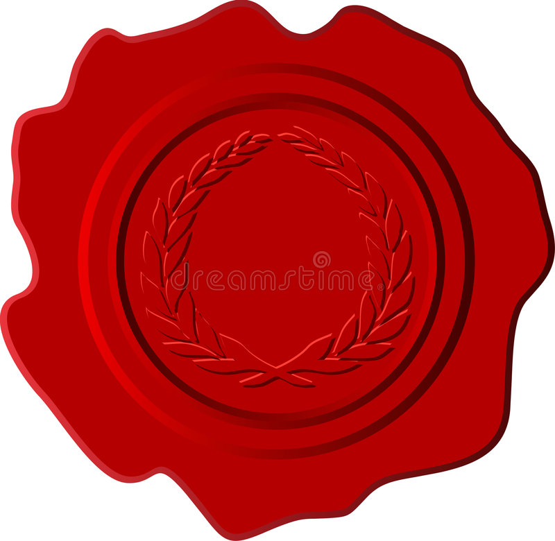 Red wax with crest