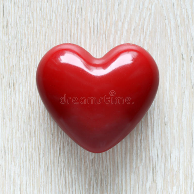 Red wax heart stock photo
