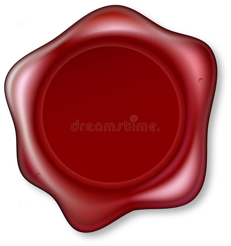 Download Red Wax Seal stock vector. Image of antique, element - 25610413