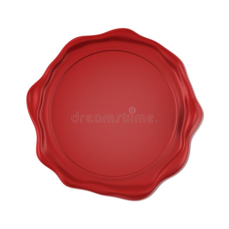 Red wax seal vector illustration