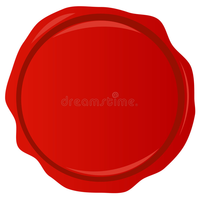Red wax seal. Red wax stamp with room for copyspace - vector stock illustration