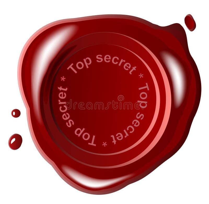 Red wax seal. Top secret ,vector,top secret vector illustration