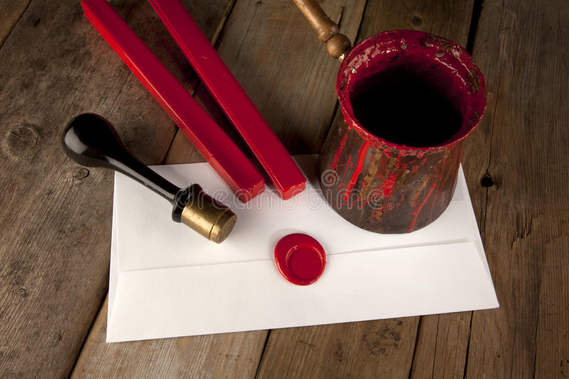 Download Red Wax Staff With Stamp And Letter Royalty Free Stock Photo - Image: 18632215