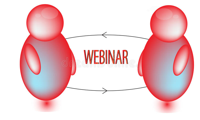 Download Red Webinar Icon stock illustration. Image of firm, technology - 36960316