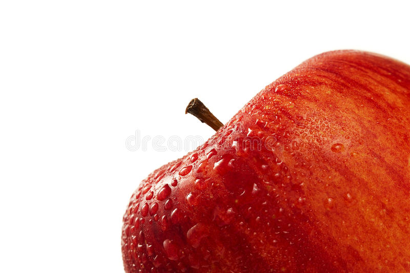 Download Red wet apple closeup stock photo. Image of water, drop - 15819520