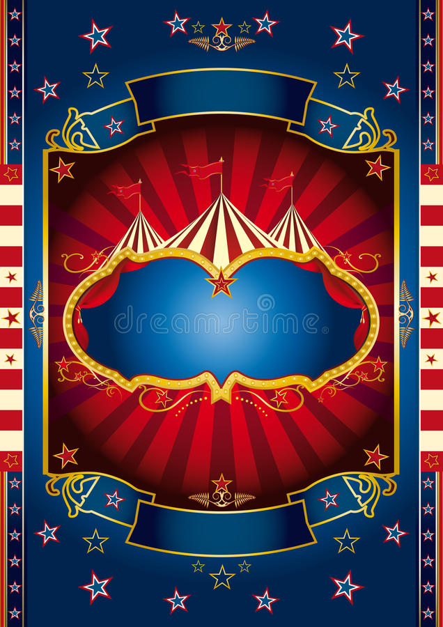 Red Wheel Circus Royalty Free Stock Images