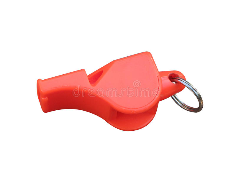Red whistle royalty free stock images