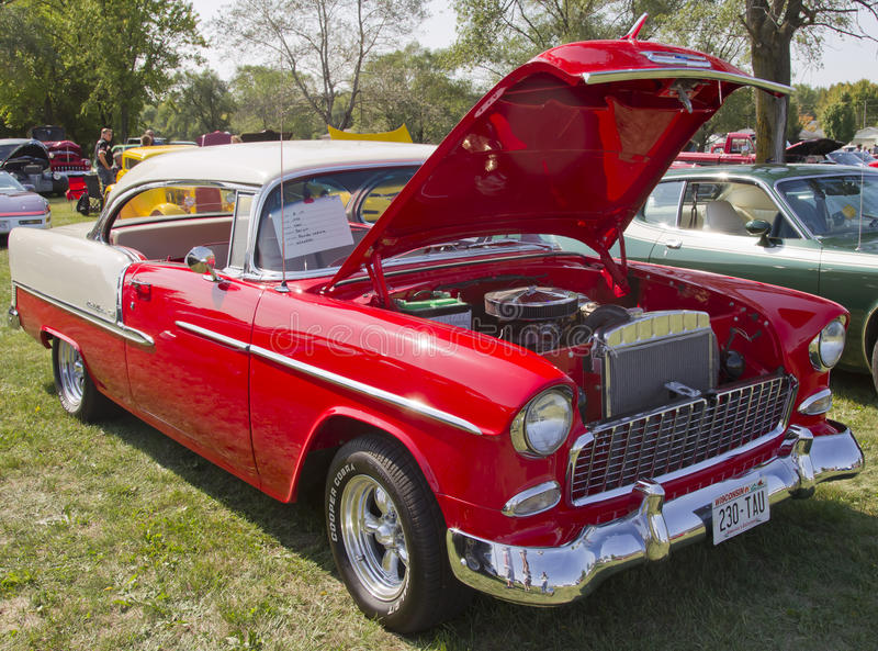 Download Red White 1955 Chevy Bel Air Editorial Image - Image: 28800780