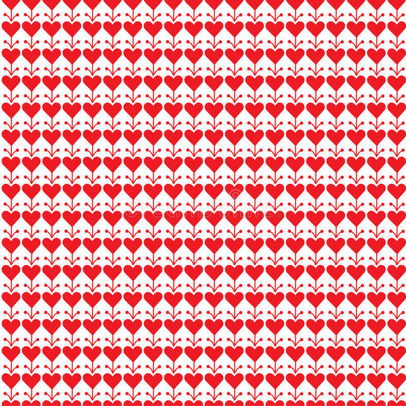 Download Red white background stock vector. Image of valentine - 66491887