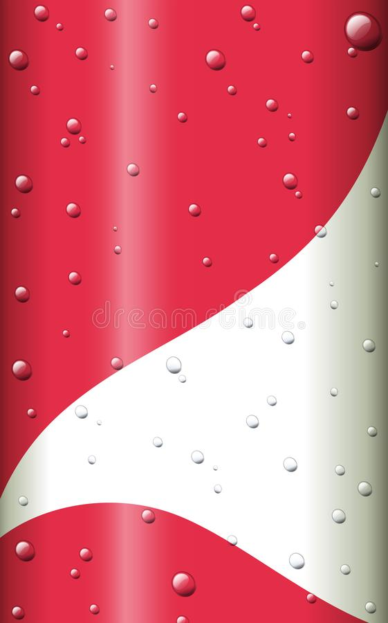Red and white background with droplest of water royalty free illustration