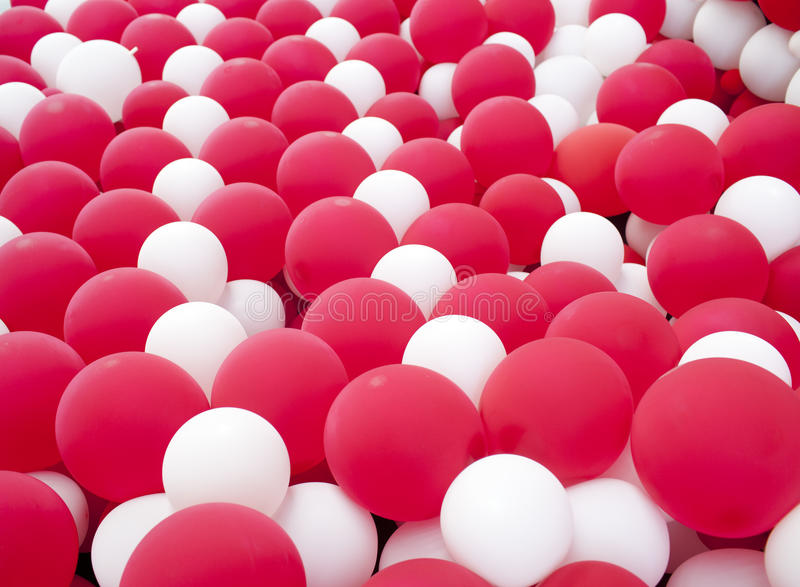 Download Red and white balloon wall stock illustration. Image of decor - 33157916